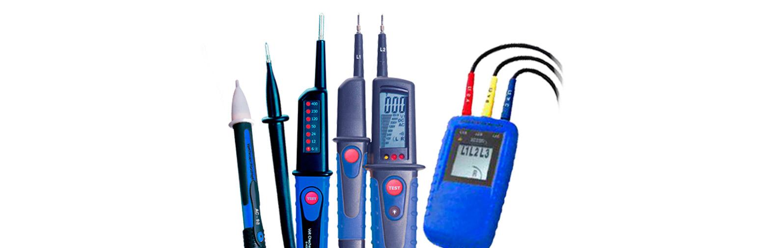 Detectores y comprobadores de electricidad